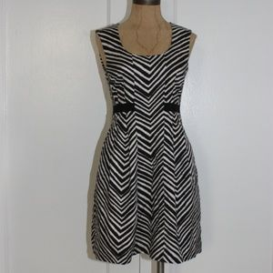 Club Monaco Chevron Pleated Dress